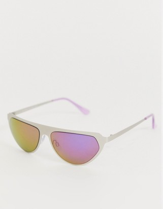A. J. Morgan Aj Morgan AJ Morgan wrap around sunglasses in silver