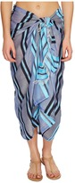 Echo Sheer Stripe Pareo Cover-Up Women's Swimwear