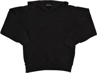 Balenciaga Logo Embroidery Cotton Sweatshirt Hoodie