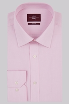Moss Esq. Regular Fit Pink Single Cuff Hairline Stripe Non-Iron Shirt