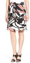HUGO BOSS &Viphima& Print A-Line Skirt (Petite)