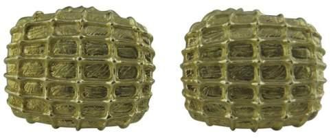 David Yurman 18K Yellow Gold Animal Print Cufflinks