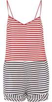 RED Valentino Striped Silk Crepe De Chine Playsuit