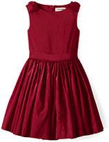 Lands' End Girls Taffeta Dress-Gray Heather Leopard