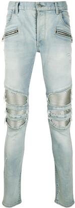 Balmain Distressed Skinny Fit Jeans