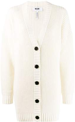 MSGM ribbed knit cardigan