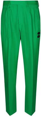 Off-White Off White Wool Tailored Trousers
