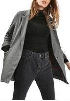 Topshop Women's Tweed Longline Blazer