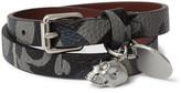 Alexander McQueen Camouflage-print Leather Wrap Bracelet - Blue