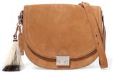 Loeffler Randall Tasseled Suede Shoulder Bag - Light brown