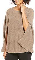 Gibson & Latimer Crew Neck Sleeveless Wool Sweater Poncho