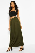 boohoo Lizbeth Pocket Front Jersey Maxi Skirt