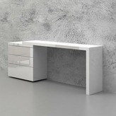 Furman Writing Desk Brayden Studio Color: High Gloss White Lacquer