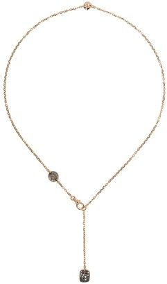 Pomellato 18kt rose gold Sabbia diamond lariat necklace