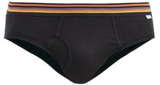 Paul Smith Artist-stripe Cotton-jersey Briefs - Black