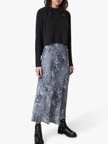 AllSaints Tierny Evolution 2-In-1 Dress, Blue/Charcoal Grey