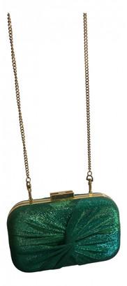 Elisabetta Franchi Green Polyester Clutch bags