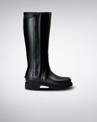 Hunter Women's Balmoral Full Rubber Zip Tall Rain Boots