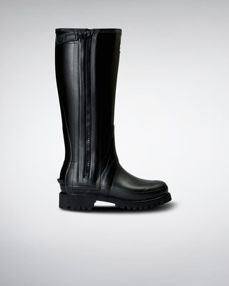 Hunter Women's Balmoral Full Rubber Zip Tall Wellington Boots