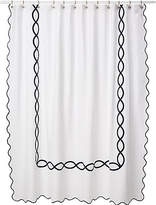 Matouk Gianna Shower Curtain - Navy