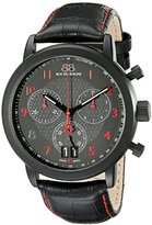 88 Rue du Rhone Men's 87WA130032 Analog Display Swiss Quartz Black Watch