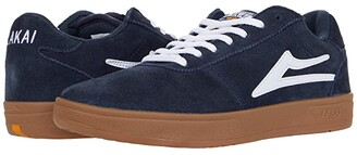 Lakai Manchester XLK (White/Gum Leather) Men's Shoes
