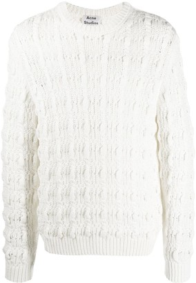 Acne Studios Cable-Knit Relaxed-Fit Jumper