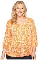 MICHAEL Michael Kors Size Cheetah Peasant Top