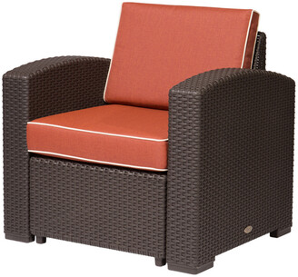 Lagoon Magnolia Rattan Club Chair, Brown
