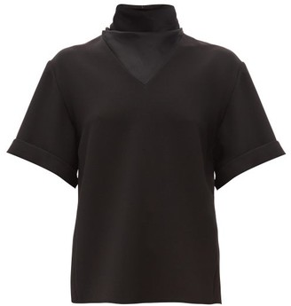 Ellery Hopper High-neck Crepe Top - Womens - Black