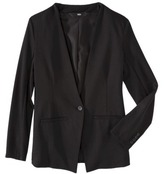 Mossimo Women's Collarless Ponte Blazer - Black Foil