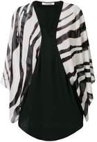 Roberto Cavalli contrast long-sleeve blouse