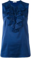 P.A.R.O.S.H. pleated detail sleeveless blouse