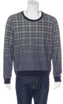 Band Of Outsiders Plaid Ombré Sweatshirt w/ Tags