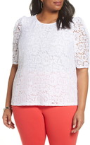Halogen Lace Puff Sleeve Top