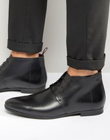 Boss By Hugo Boss Paris Short Leather Lace Up Boots