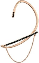 Rebecca Minkoff Pave Ear Wrap Cuff with Chain and Stud Earrings