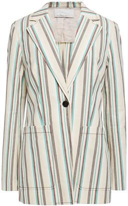 3.1 Phillip Lim Striped Slub Cotton Blazer
