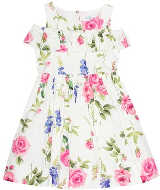 MonnaLisa Floral-printed cotton dress