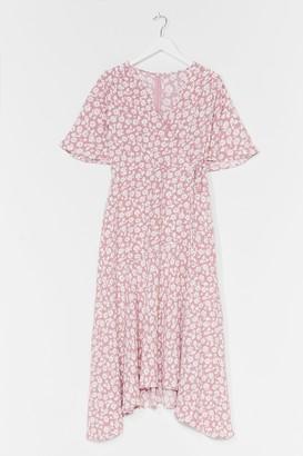 Nasty Gal Womens You've Got It Bud Floral Midi Dress - Pink - 16