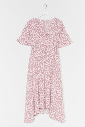 Nasty Gal Womens You've Got It Bud Floral Midi Dress - Pink - 8