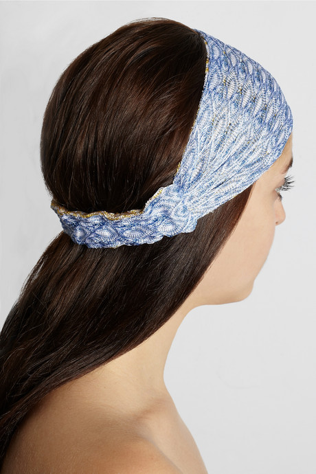 Missoni Reversible crochet-knit headband