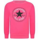 Converse ConverseGirls Neon Pink Logo Sweatshirt