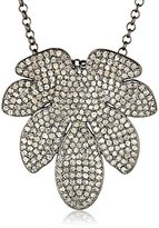 Azaara Sterling Silver 7 Leaf Pave Champagne Diamond Pendant Necklace (3.99cttw, I2-I3 Clarity)