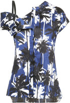 Jason Wu palm print asymmetric top