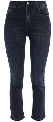 Victoria Victoria Beckham Victoria, Victoria Beckham Cropped Faded Mid-rise Skinny Jeans