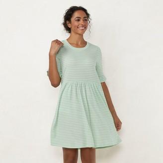Lauren Conrad Women's Ruffle Sleeve Fit & Flare Dress