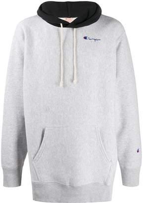 Champion contrasting hood sweatshirt