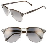 Persol Men's 56Mm Keyhole Sunglasses - Grey Horn