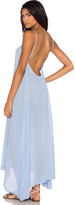 Bobi Gauze Sleeveless Scoop Back Maxi Dress